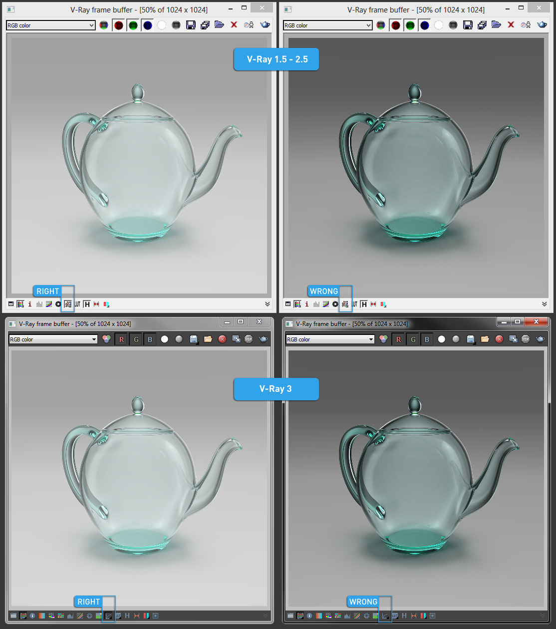 Vray framebuffer settings