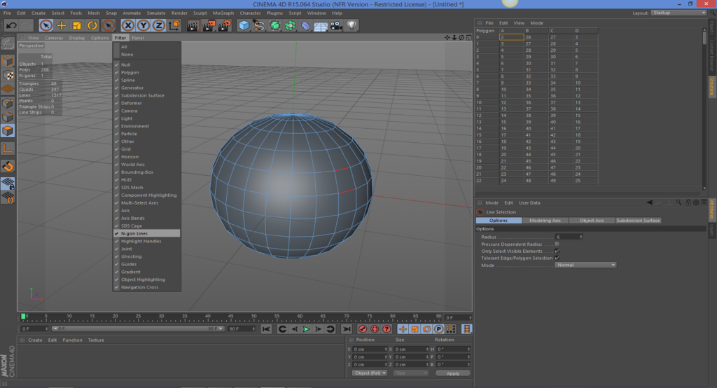 How to Find N-Gons in CINEMA 4D