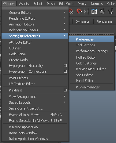 how to set up units in Maya