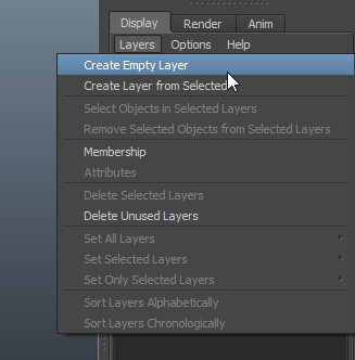 how to create new Layers in Maya