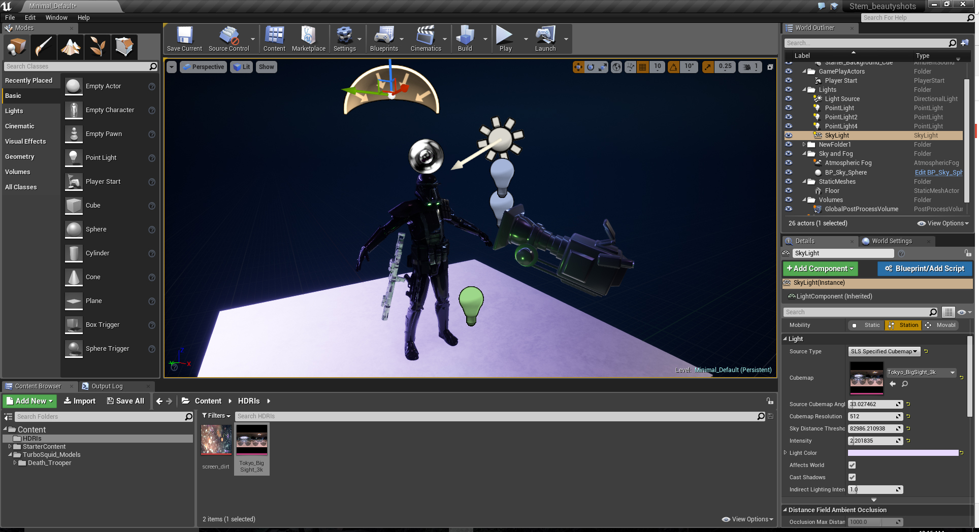 Creating a StemCell 3D model preview in Unreal