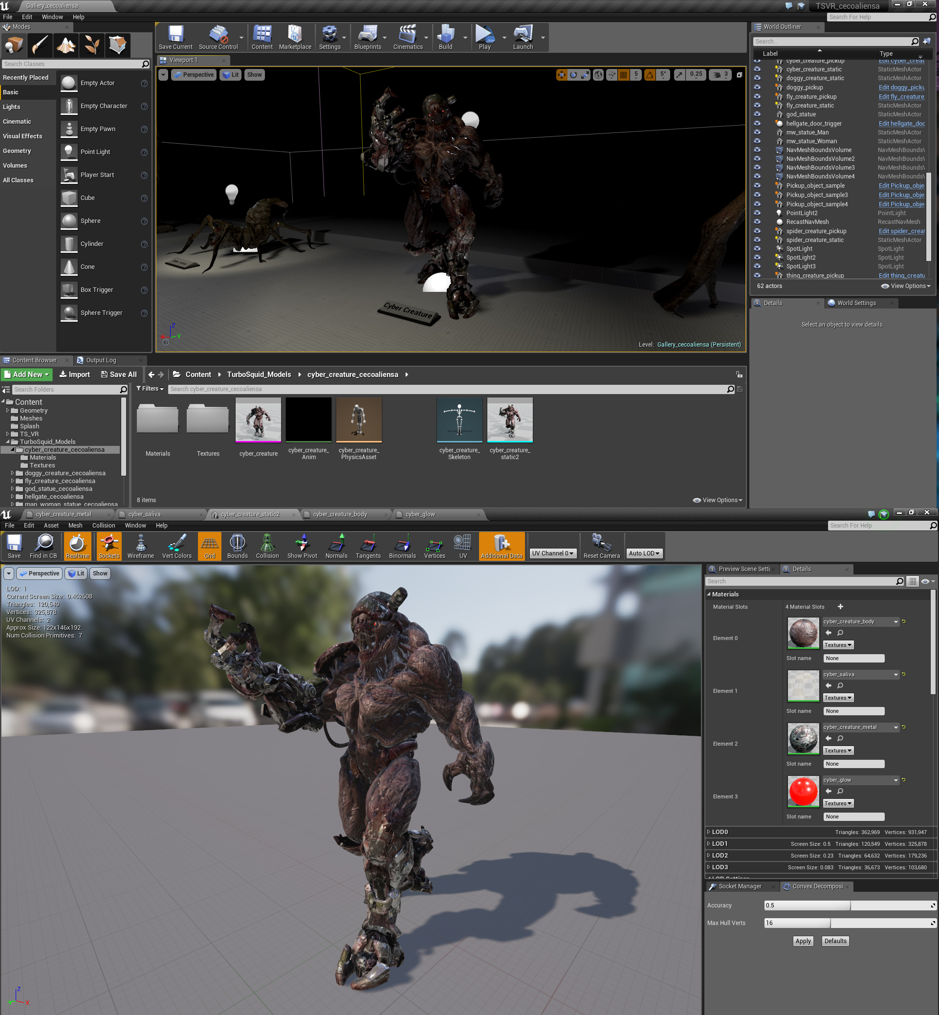 Creating 3d model preview in Unreal