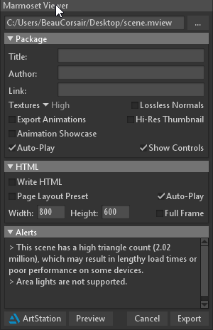 Artist Guide to Marmoset Viewer