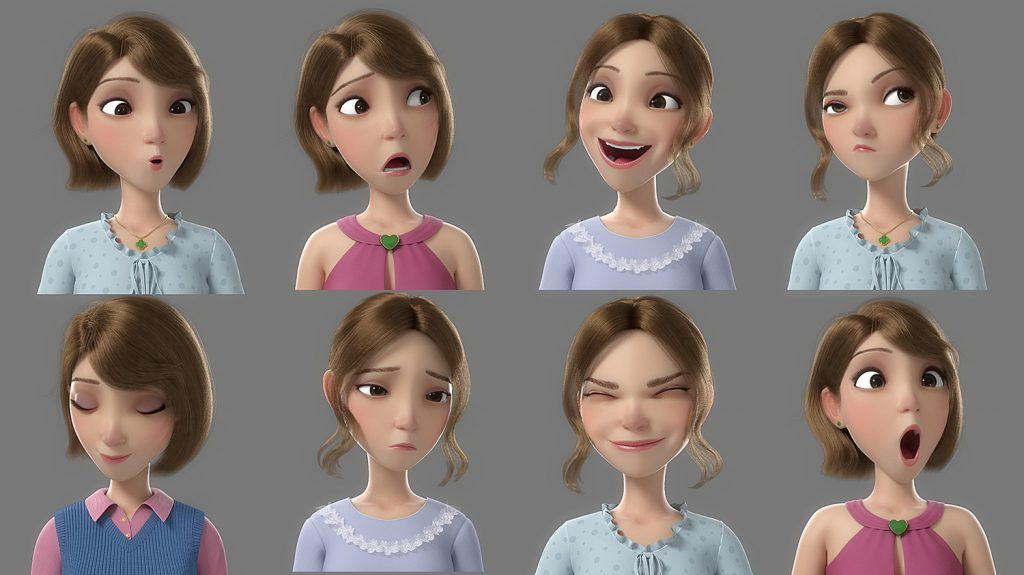 Multiple poses for 3D model on TurboSquid