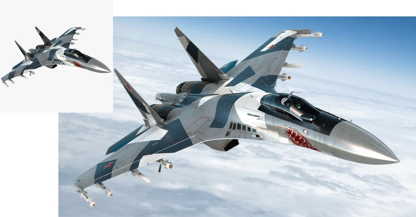 Jet 3D model in context image on TurboSquid