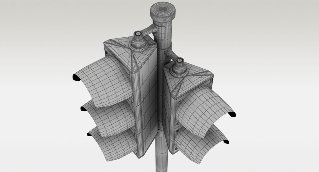 Example of wireframe image for TurboSquid model